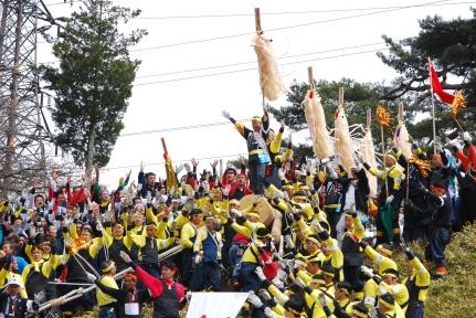 Kiyari, before the fall (Courtesy of the Shimin-shimbun)