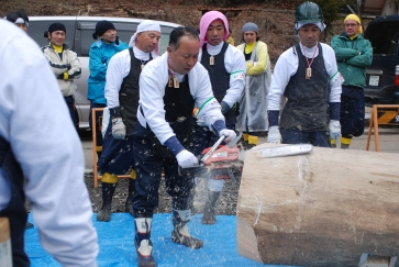 Kizukuri, preparing the log 2010