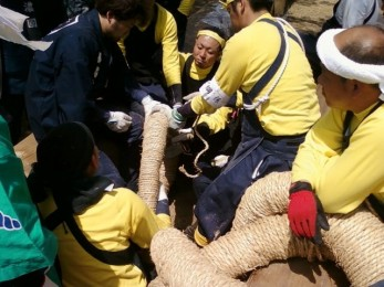 Attaching the harnesses, pre-Satobiki